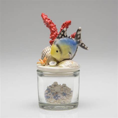 vasi bomboniere bomboniera vaso in vetro c coperchio c pesce in ceramica
