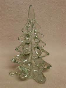 glass christmas tree by enesco clear tree by fabvintageestates