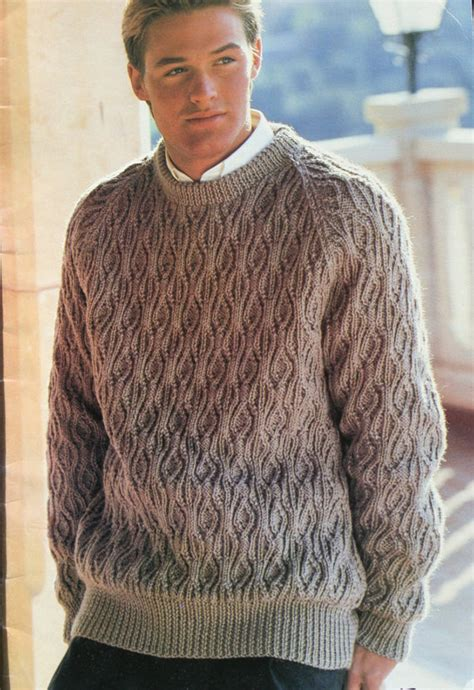 mens sweater knitting pattern patons mens knitting patterns crochet and knit