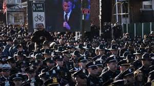 Officer Ny by Turn Their Backs On Mayor De Blasio During Funeral