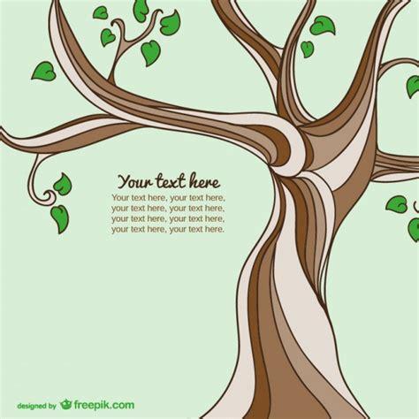 Kostenlose Vorlage Baum Gezeichnete Baum Vorlage Der Kostenlosen Vektor