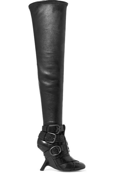 ford boots tom ford buckled leather the knee boots net a