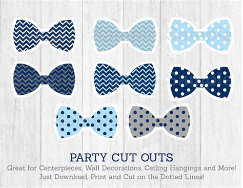 Nursery Name Banner by Bow Tie Cut Outs Little Man Baby Shower Chevron Bow Tie