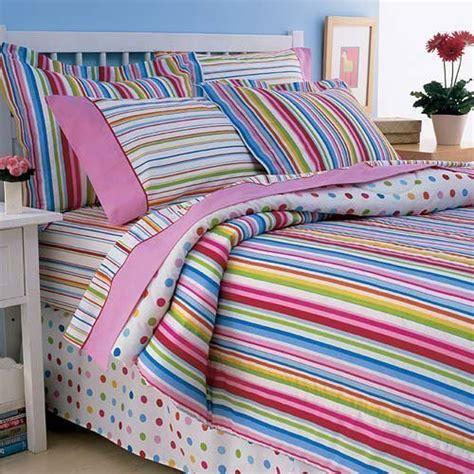 Colorful Bed In A Bag Sets Bed In A Bag For 6 Striped Polka Dot Multi Color Comforter Set Bed
