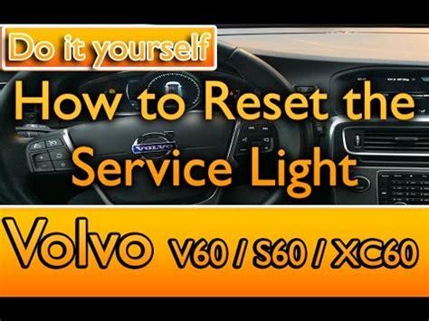 reset  service light  volvo    xc  youtube