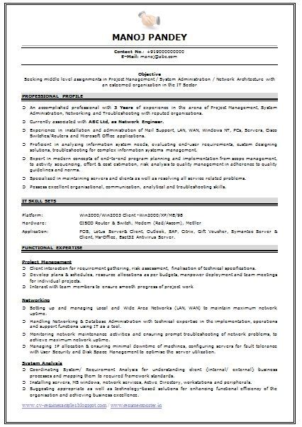 resume format for experienced it professionals professional resume format for experienced free best resume gallery