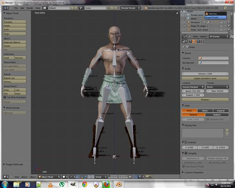 import psk to blender using blender3d modfiy premade blender skeletal mesh
