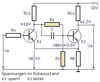 bipolar transistor anwendung trigger mit transistoren und schaltdiagramm