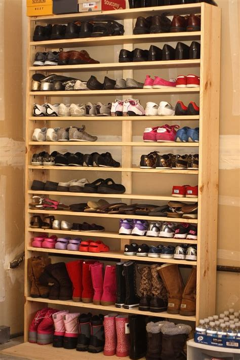 diy shoe shelves best 25 garage shoe storage ideas on