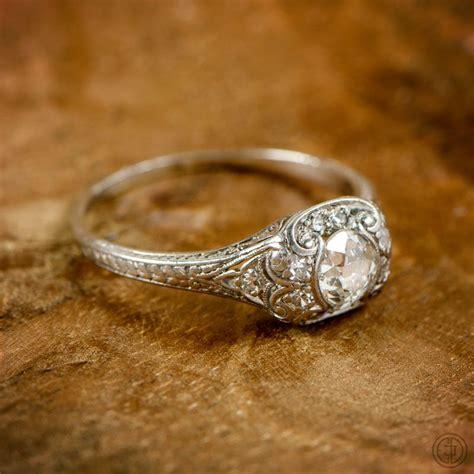 old mine cut diamond engagement ring wedding things