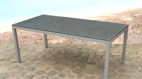 table jardin beliani table de jardin luxueux en granite mod 232 le torino fr