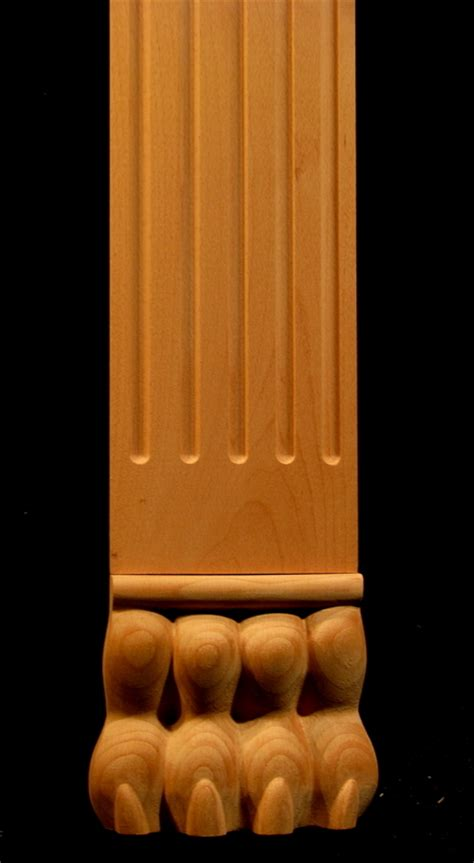 Headl Accent 98 00 Standard carved wood column pilaster carved accents