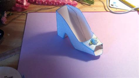 How To Make A Shoe Out Of Paper - cinderella shoe invitation