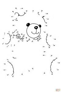 teddy bear dot dot free printable coloring pages