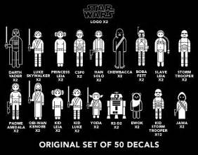 Star wars family car decals thinkgeek