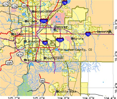 Arapahoe County Search Map Of Arapahoe County Colorado My