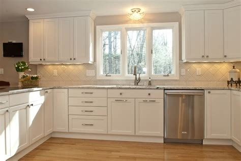 Kashmir White Kitchen by Classically White Traditional Kitchen Boston By Kitchenvisions