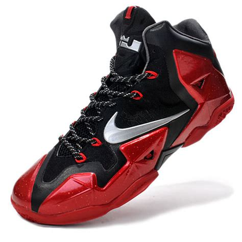 lebron james shoes nike air max lebron james xi silver red basketball shoes