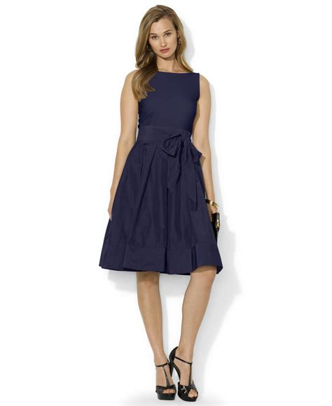 Lawren Dress lyst by ralph pleated cocktail