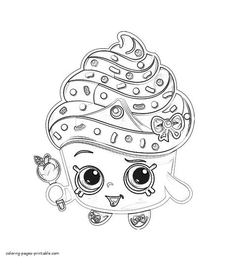 cupcake shopkin coloring page shopkins coloring