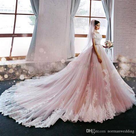Pink Designer Wedding Dresses by Discount Luxury Blush Pink Wedding Dresses 2017 The