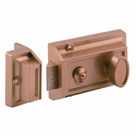 Locking Door Types by Prime Line Single Cylinder Brass Painted Locking