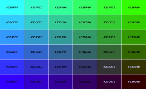 green color code html color code list se7ensins gaming community