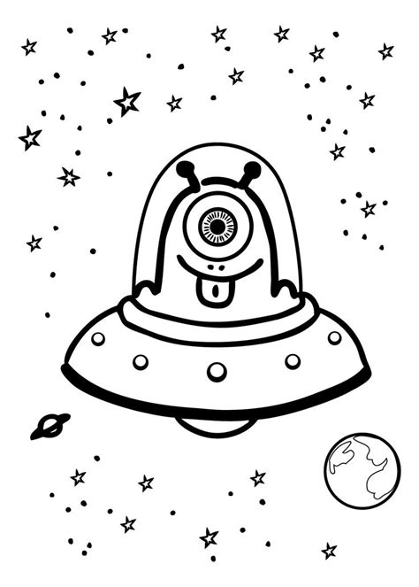 space monster coloring page 33 best images about aliens on pinterest shops cartoon