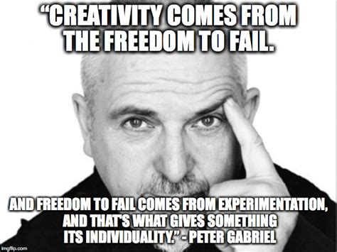 Pictures Memes - creativity comes from the freedom to fail peter