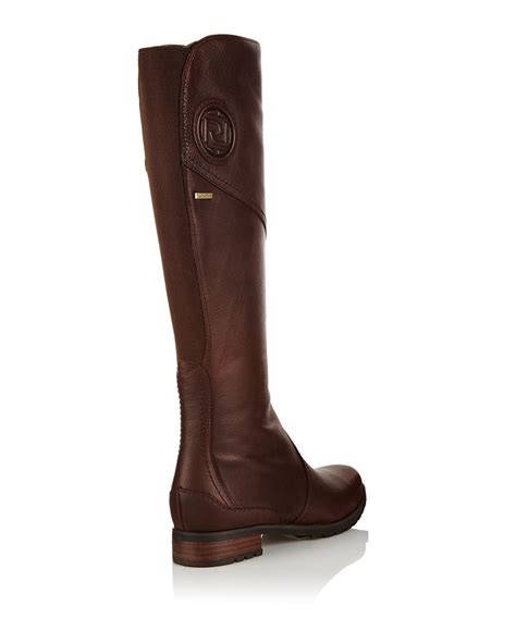 leather boots sale rockport tristina brown leather riding boots designer