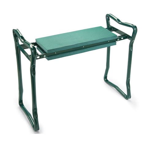 garden kneeling bench with handles garden kneeler and seat green by collections etc