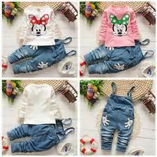 Kid Set Fingers Minnie Denim minnie mouse baby ebay