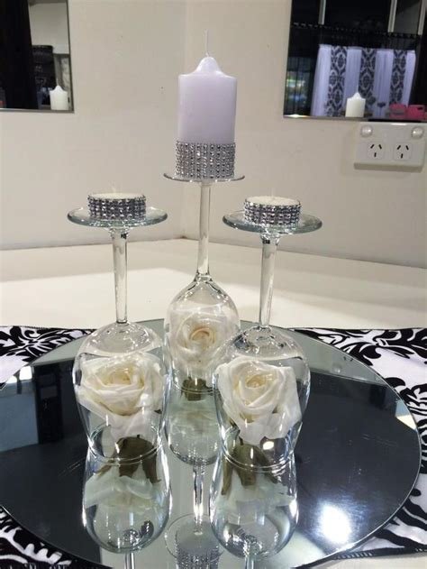 The 25 Best Wine Glass Centerpieces Ideas On Pinterest Wine Glass Wedding Centerpieces