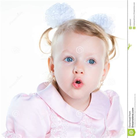 little girl mouth open little girl surprised with open mouth stock image image