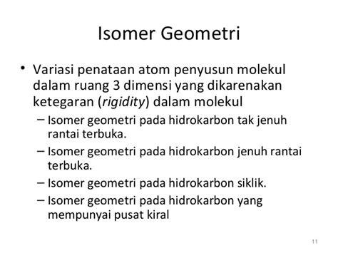 Rantai Geometri stereokimia tep thp