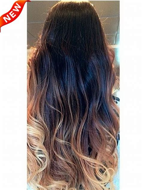 color themes extension three colors ombre clip in hair extensions m1b27s27h30