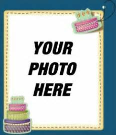 edit a birthday card by adding a digital picture frame to this blue background photofunny