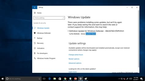 install windows 10 error windows 10 update installation error 0x80070643 failed to