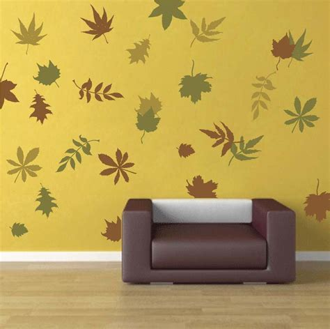 trendy wall designs autumn leaves wall art design trendy wall designs