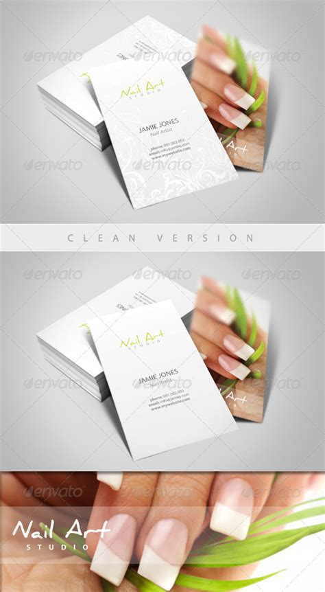 manicure business cards templates nail manicure business card by esteeml graphicriver