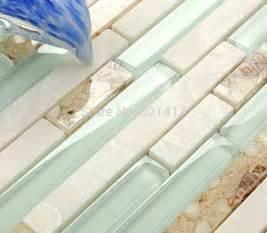 light blue glass tile backsplash aliexpress buy light blue glass shell
