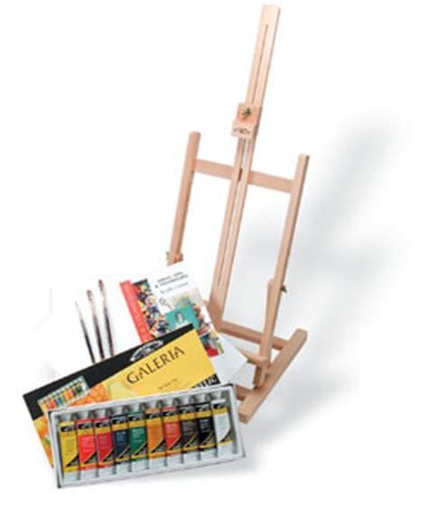 acrylic painting easel set winsor newton galeria acrylic paint set wth easel