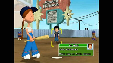 How To Play Backyard Baseball by Backyard Baseball 2005 Lets Play Vs Royals 2