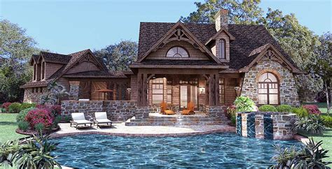 stone house designs and floor plans architectural designs