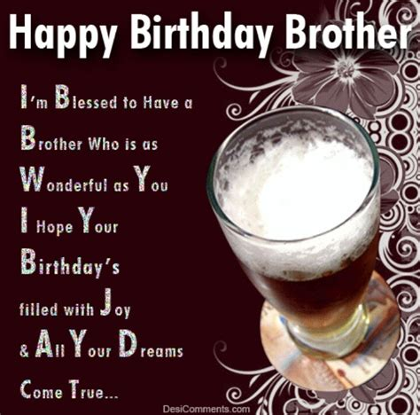 Happy Birthday Bro Quotes Happy Birthday Brother Happy Birthday Pinterest