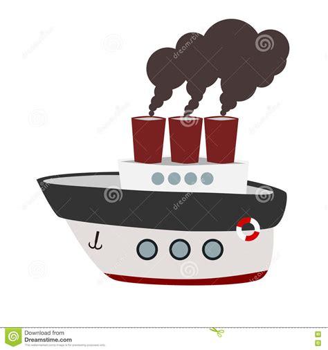 steamboat vector big cartoon steamboat stock vector illustration of
