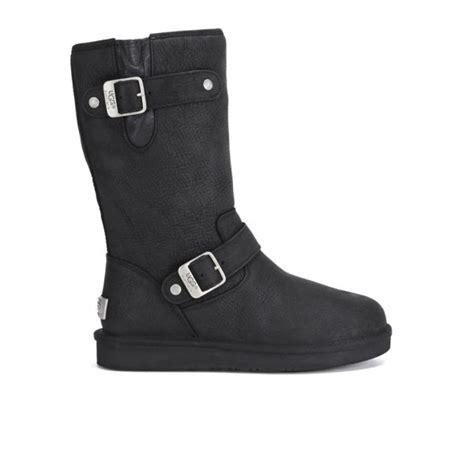 ugg s sutter waterproof leather buckle boots black