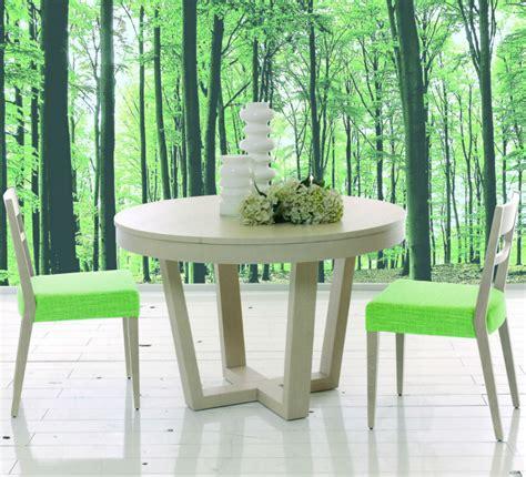 Merveilleux Chaises Fauteuils Salle A Manger #5: Table-ronde-en-bois-avec-rallonge.jpg