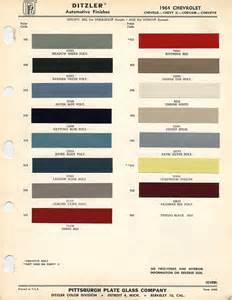 1964 chevrolet paint chips xframechevy