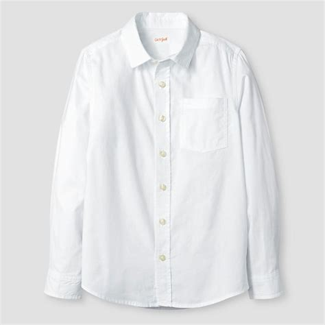 S White Sleeve Button Up Blouse by Boys Sleeve Button Oxford Shirt Cat